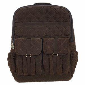 Vera Bradley Quilted Brown BackpackPurse